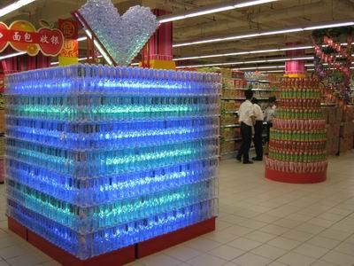 超市饮料陈列图片,饮料堆头创意陈列图片,饮料陈列 ...