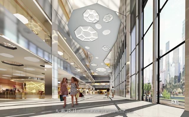 商场装修图片 深圳盛妆百货中庭设计效果图
