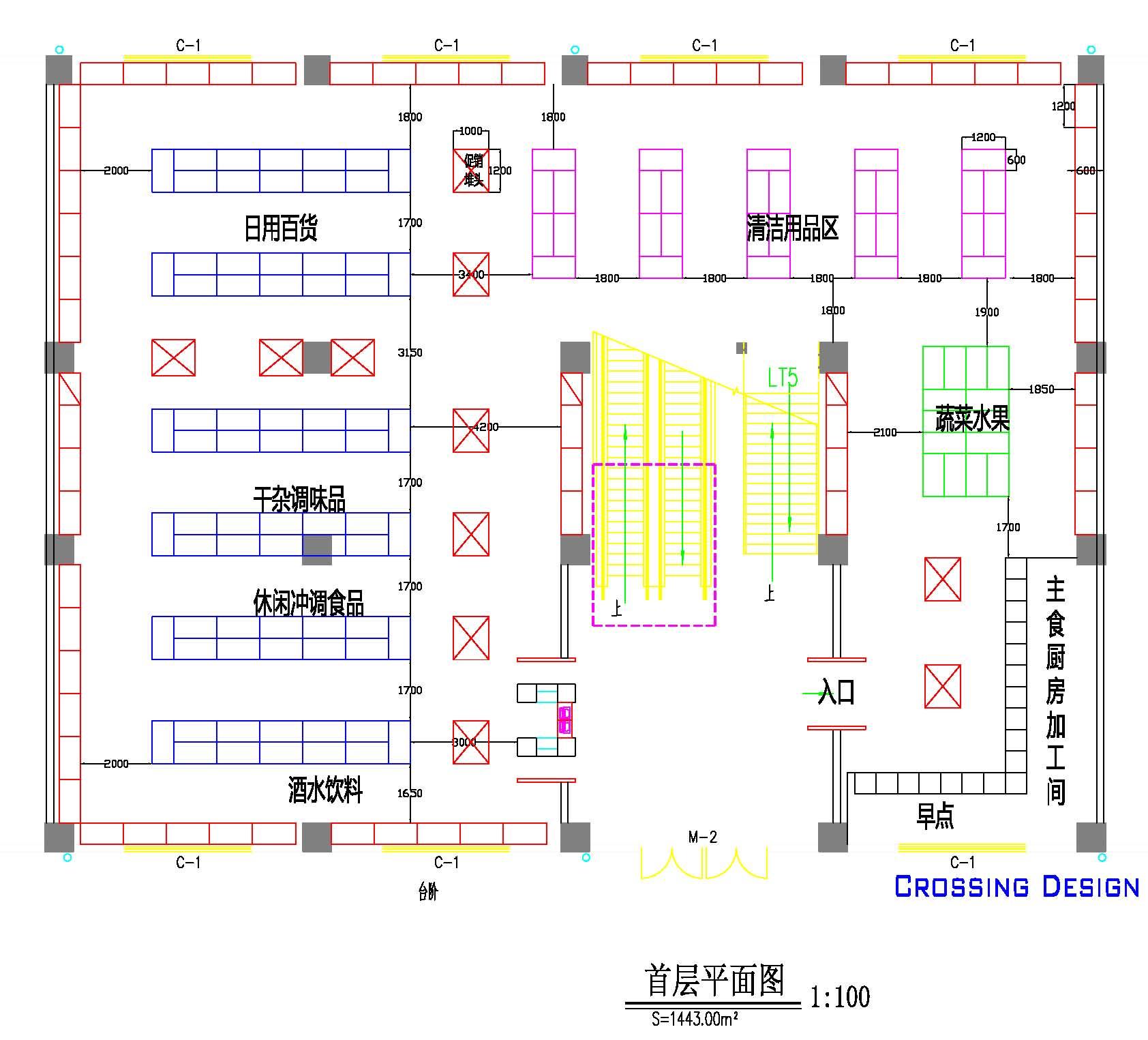 600平米社区店布局设计(附图纸)--相忘江湖-新的历程,设计人生; 200图片