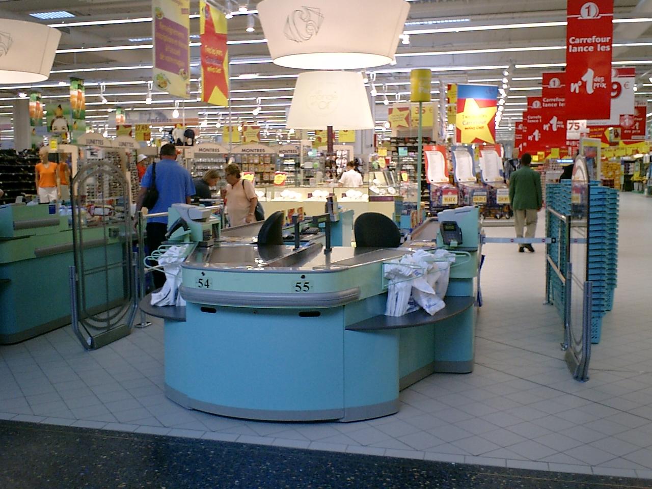 探密法国家乐福超市装修及商品陈列