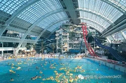 """拥有""""世界最大室内人造海洋公园""""的天堂岛海洋乐园."""