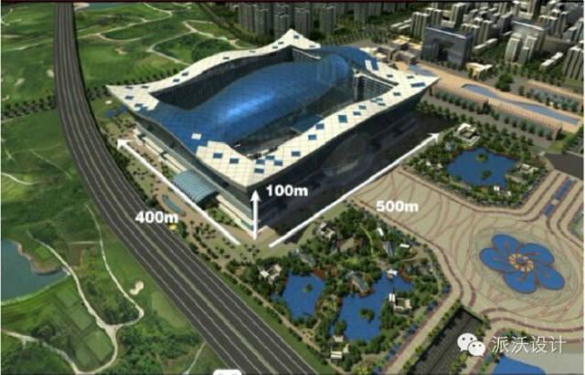 4万㎡,包括天堂岛海洋游乐园,酒店,餐饮娱乐休闲区,商业与办公,中央