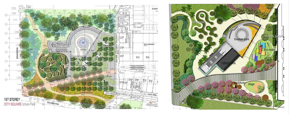 广场空地设计平面图