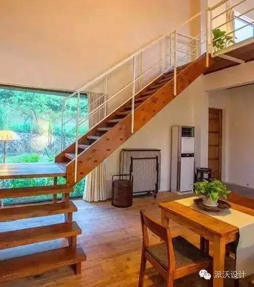 旧老木楼梯改造图片