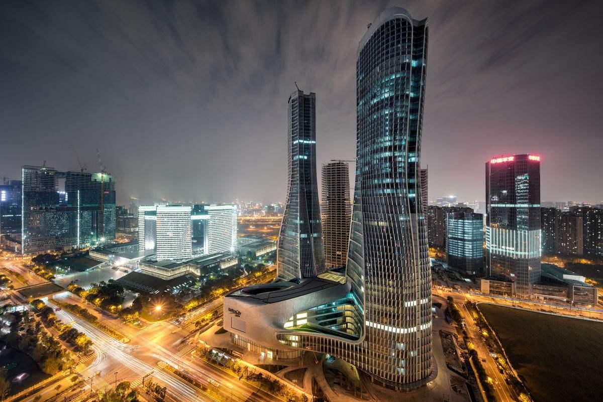 镇江地标建筑矢量图