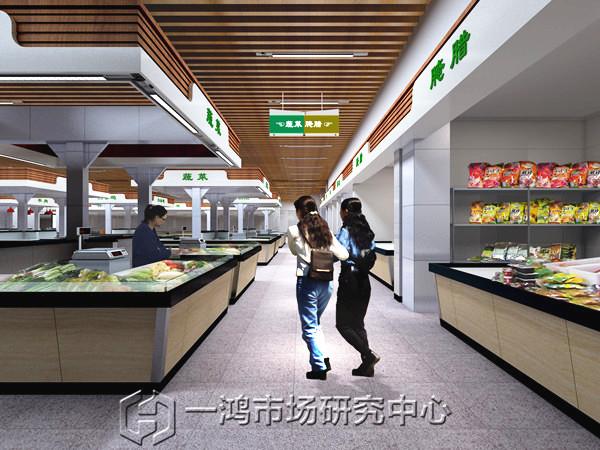 主题:农贸市场摊位设计——新疆农贸市场设计效果图赏析