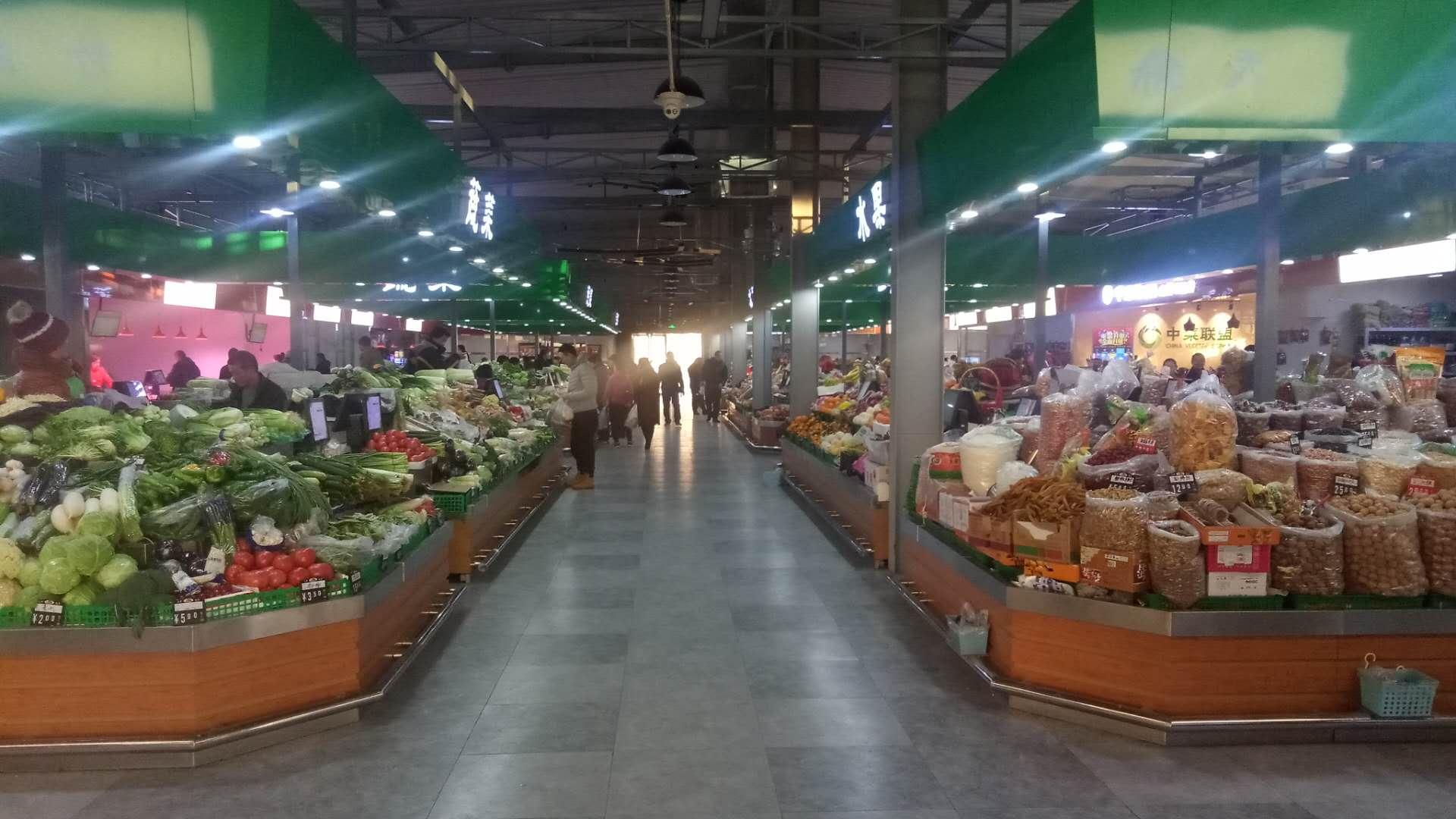 北京裕龍農貿市場效果圖案例_菜市場裝修設計效果圖