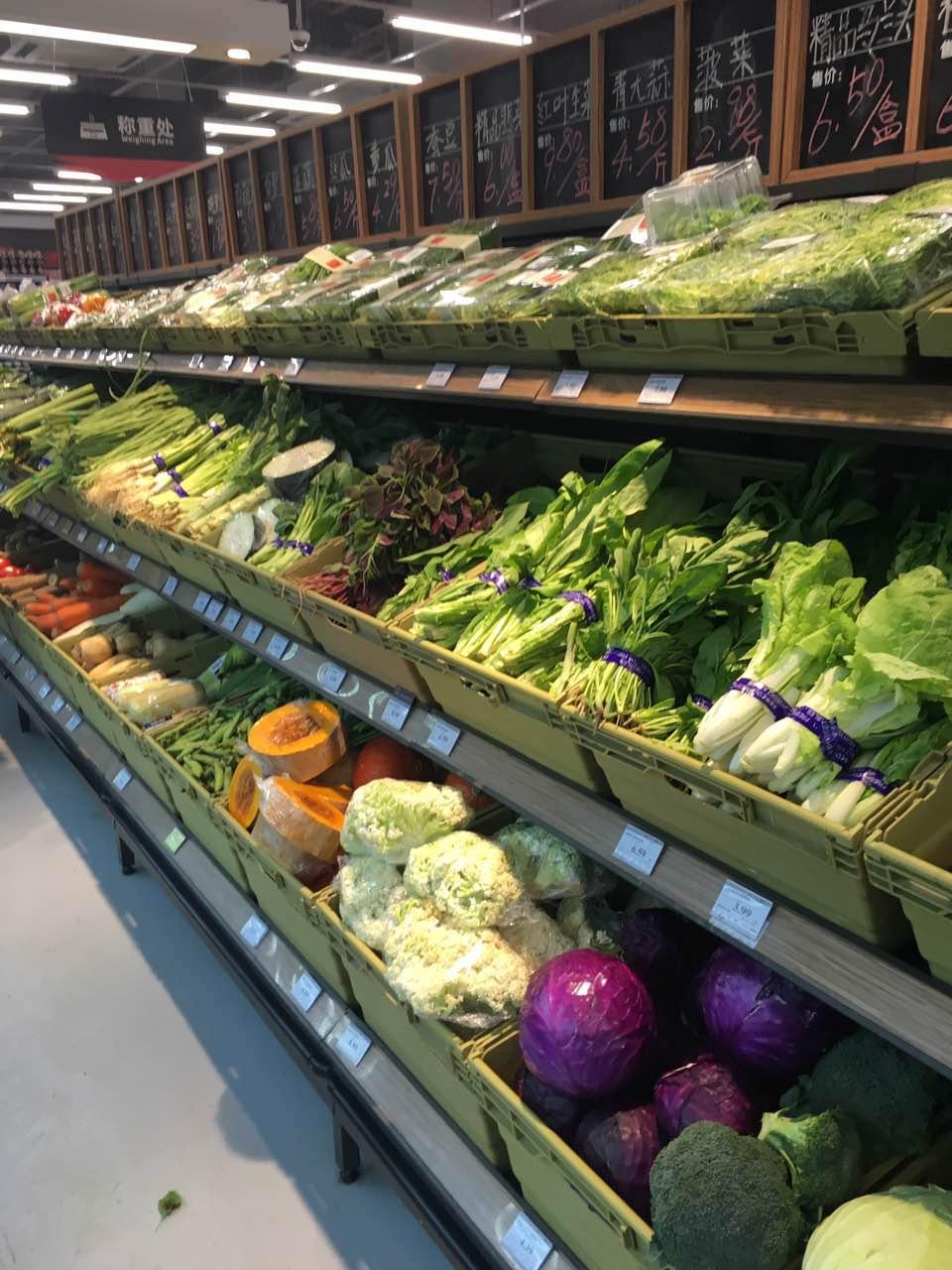 超市中岛果蔬平台